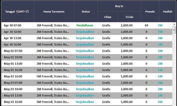 jadwal turnamen judi poker online idnplay - clubpokeronline.com